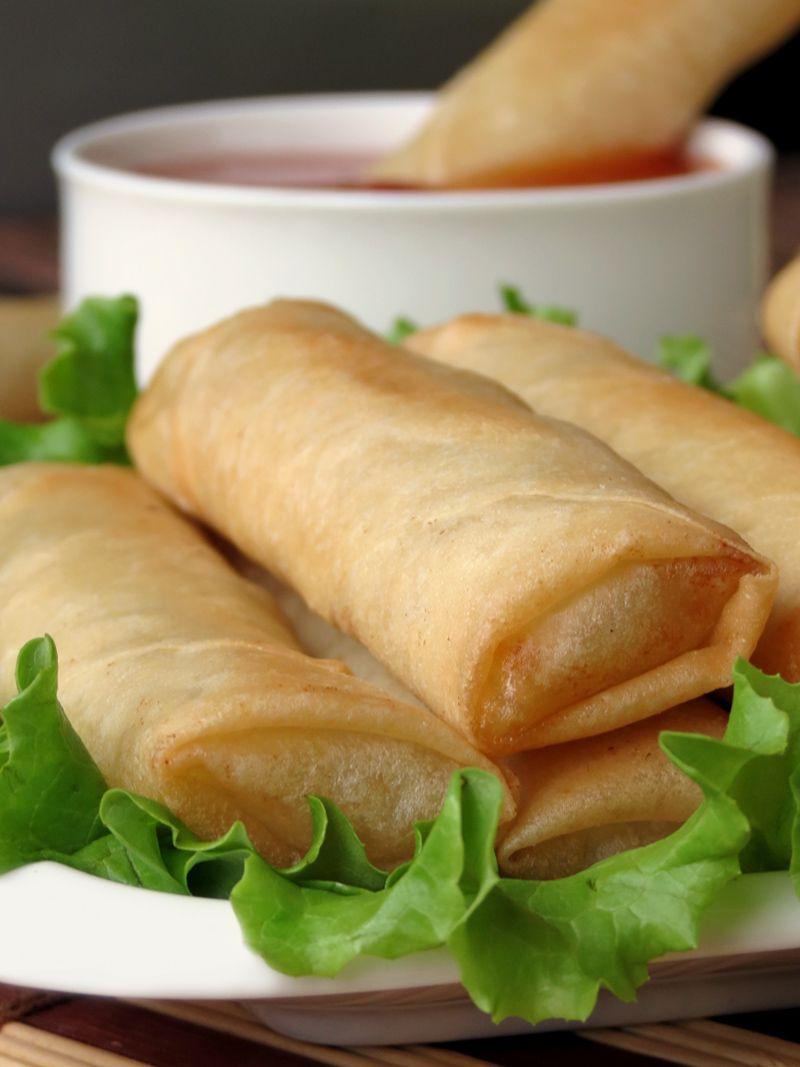 Lumpia (Filipino Spring Rolls) | YummyAddiction.com | #lumpia #filipino #springrolls #appetizer #snack #rolls