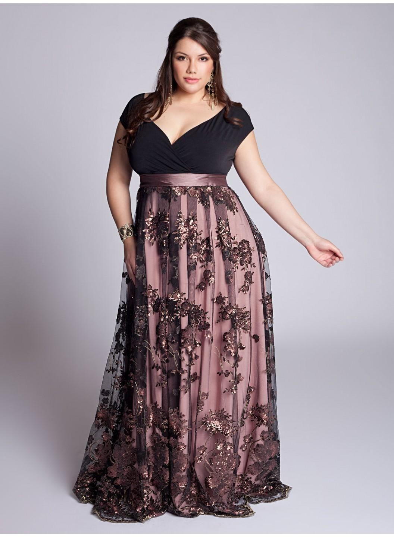 Imagenes de vestidos de noche tallas extras