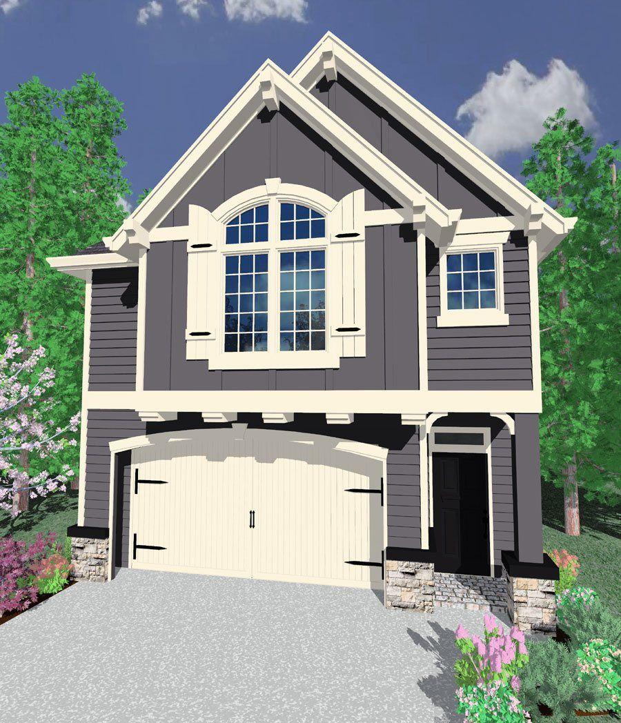 Maine House Plan Garage House Plans Narrow House Plans Narrow Lot House Plans