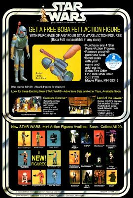 Kenner Star Wars Figure - Back Card Boba Fett Offer