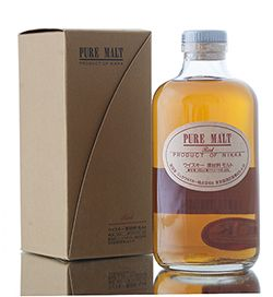 Nikka Pure Malt Red, a blended Japanese malt created from whisky from Nikka's Yoichi and Miyagikyo distilleries...