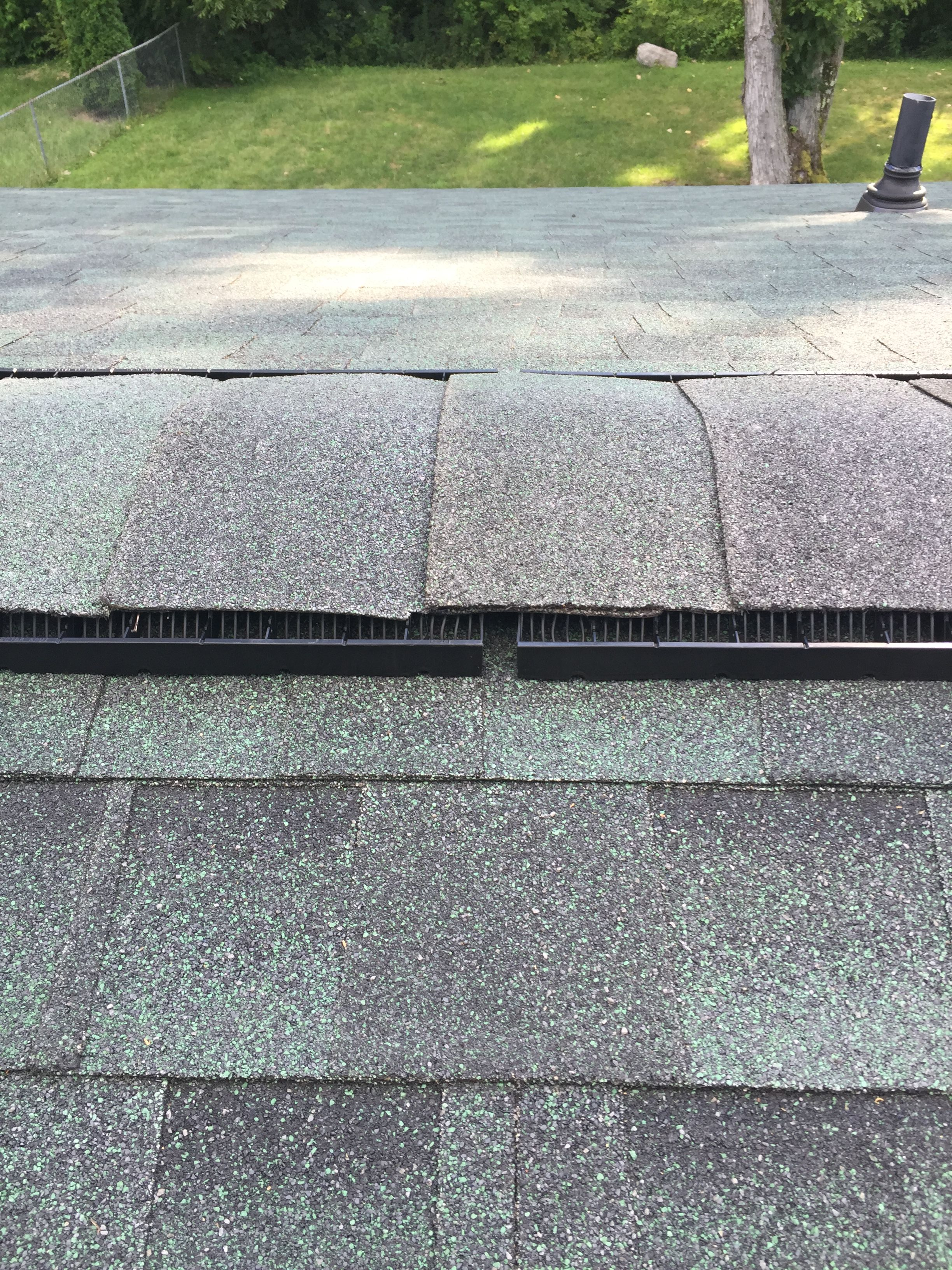 How To Shingle A Roof Ridge Cap Shingles Top Row Layout Details Preventing Moss And Fungus On Roof Shingling Ridge Cap Roof Cap