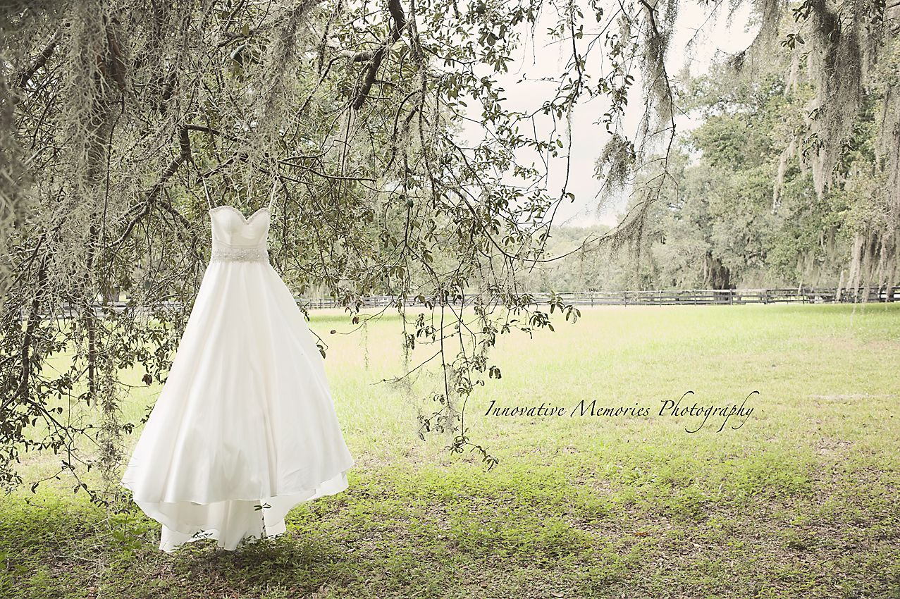 A beautiful gown with beautiful grounds as the backdrop. #wedding #dress