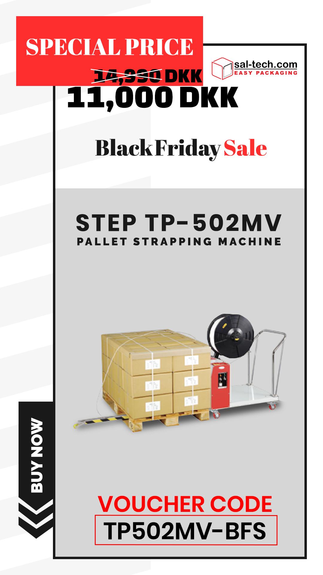 Step Tp 502mv Strapping Machine Corrugated Card Pallet Concrete Blocks