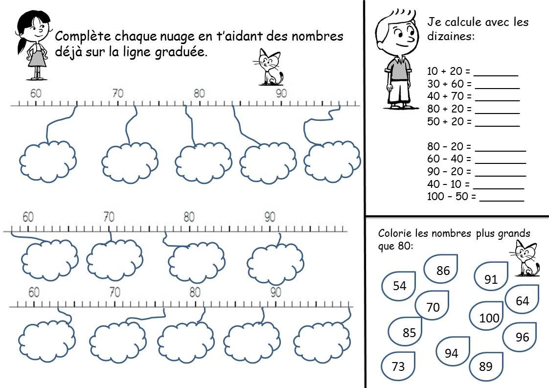 LIGNE GRADUEE CE1 | Math, Education, Words