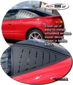 Simulated Window Louver Decal Kit For Saturn Sc Series Saturn