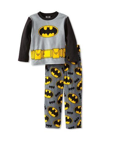 Flannel Long Sleeve TOP Super Hero Logo Boys Pajama Set Flash Superman AME Justice League Boys Batman Robin