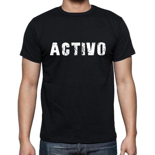 #negro #palabra #camiseta  Caminar por la calle en nuestras camisetas como si estuviera en la desfile de moda! Comprar online ->https://www.teeshirtee.com/collections/men-spanish-dictionary-black/products/activo-mens-short-sleeve-rounded-neck-t-shirt