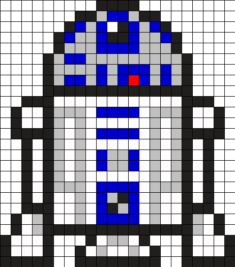 R2D2 Star Wars Perler Bead Pattern | Hanma beads | Pinterest ...