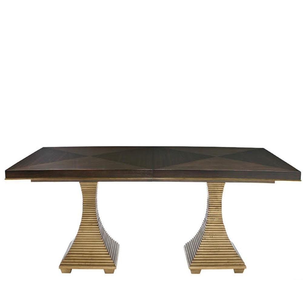 Jet Set Double Pedestal Table Bernhardt Furniture Luxe Home