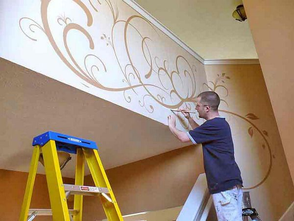 Hand Painted Wall Art hand painted classic wall murals art picture | i want to paint