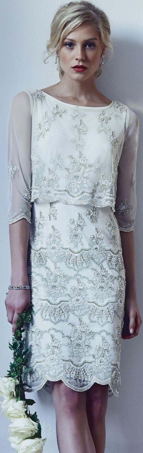 32 Vestidos de Novia Cortos y Fabulosos para tu Boda | Casamiento ...