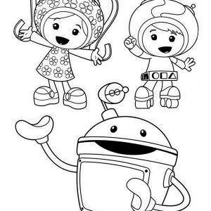 team umizoomi bot introduce milli and geo in team umizoomi coloring page bot introduce - Team Umizoomi Coloring Pages Free