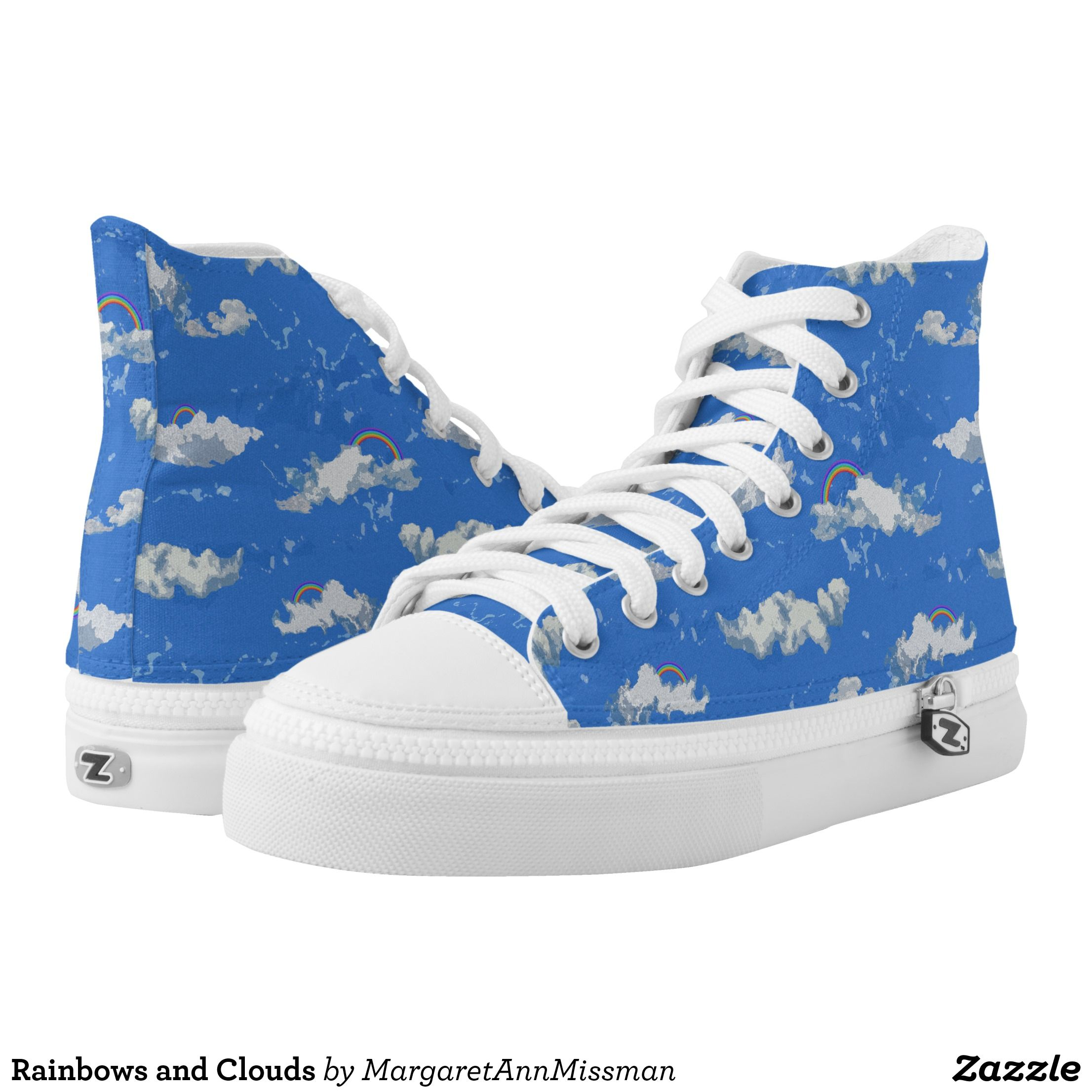 250358f25f8e Rainbows and Clouds High-Top Sneakers - Canvas-Top Rubber-Sole Athletic  Shoes By Talented Fashion And Graphic Designers - #shoes #sneakers  #footwear ...
