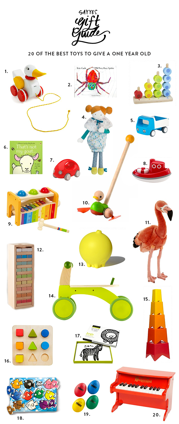20 Best Toys To Give A One Year Old Say Yes Cool Toys First Birthdays Toys For 1 Year Old
