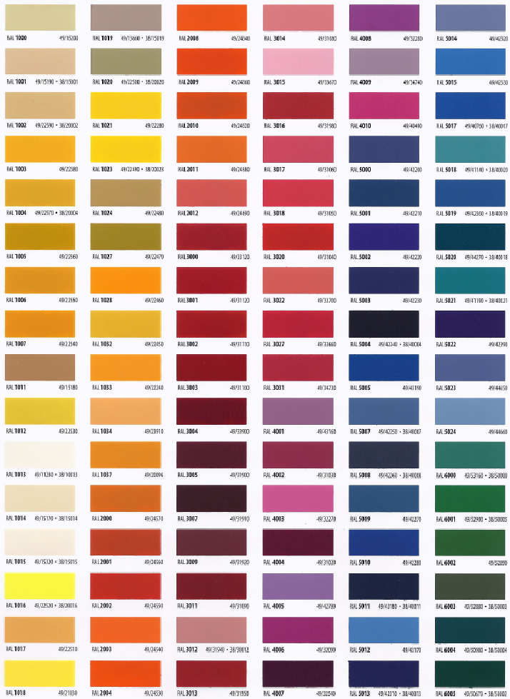 RAL   EaColor Palettes