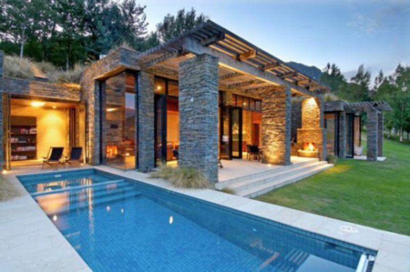 stone home designs. contemporary stone houses  Contemporary Home Exterior Stone House Architecture