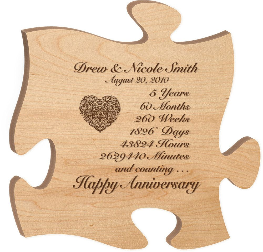 Wedding Anniversary Dates And Gifts: Personalized 5th Anniversary Gift For Him,Fifth