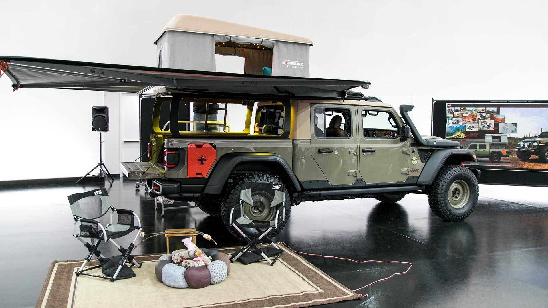 Jeep Gladiator Wayout Is A Camping Pickup Truck With A ...