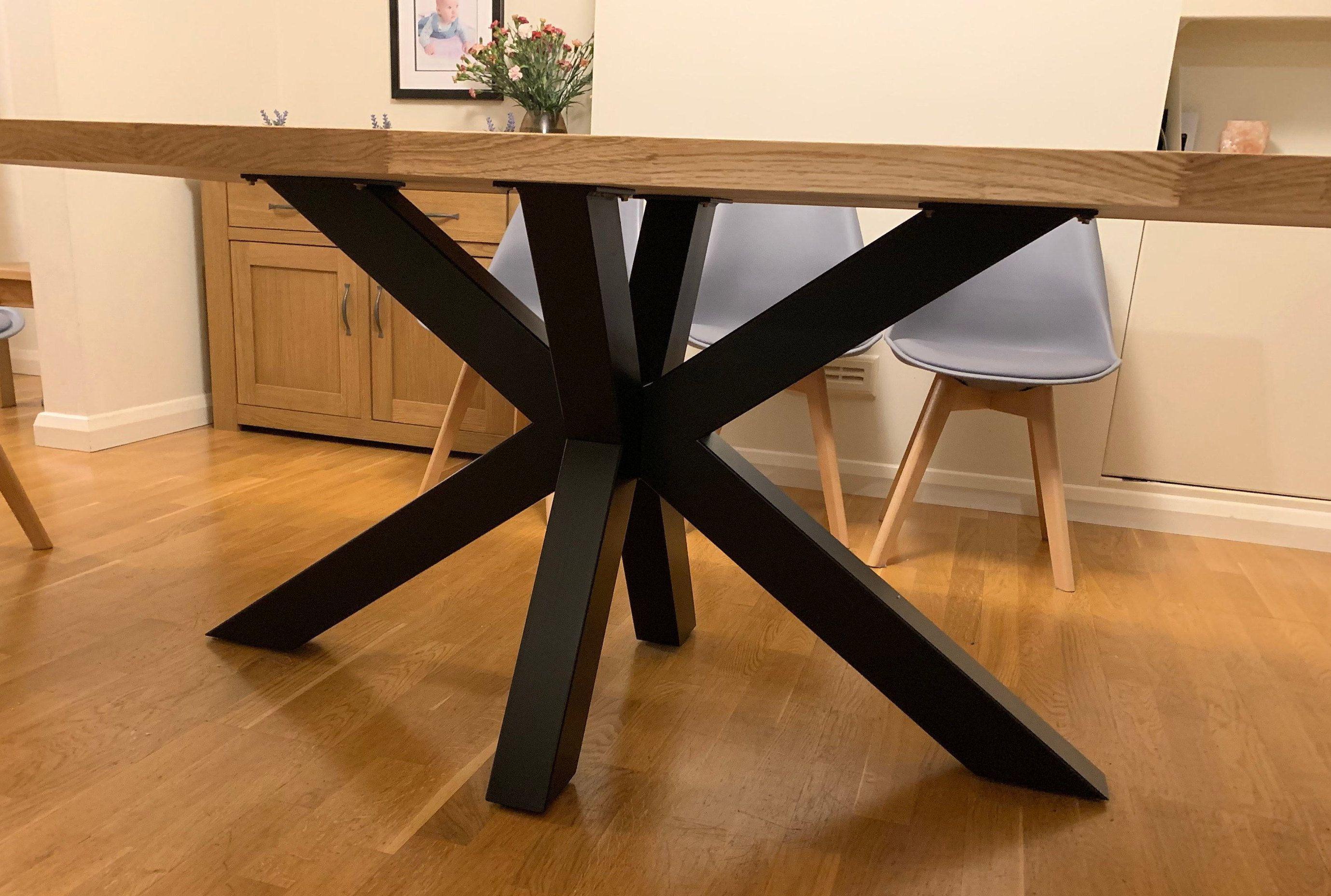 Questo tavolo ha uno stile inconfondibile,. Table Base Pedestal Dining Table Base Metal Table Base Powder Coated Height Xsavier 100 80 Tavoli In Metallo Tavolo Moderno Design Tavolo In Legno