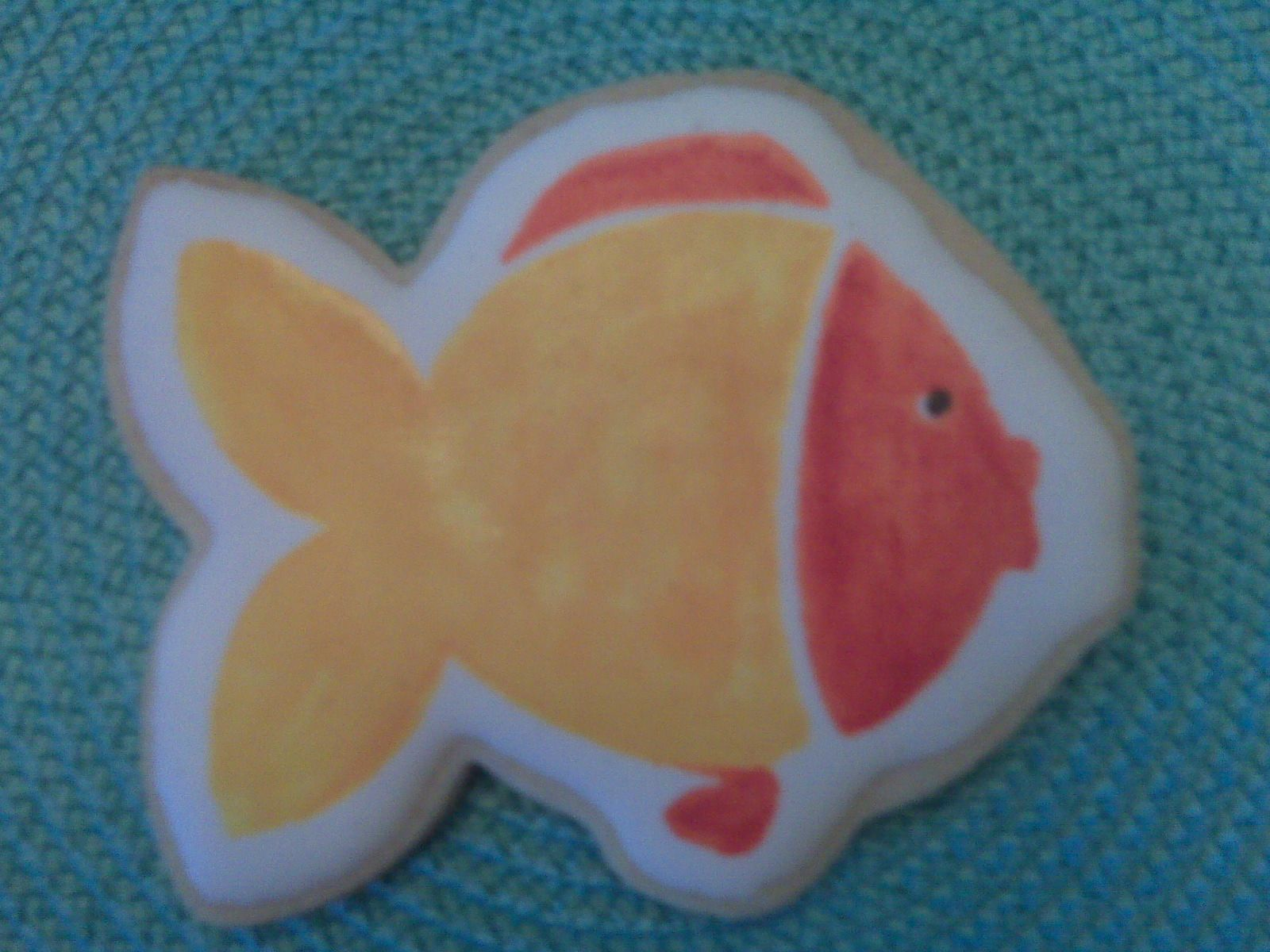 Stamped  Colored Fish Cookie by Carmen