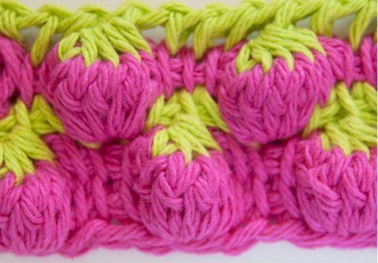 Strawberry Stitch Crochet Pattern Easy Video Instructions Crochet