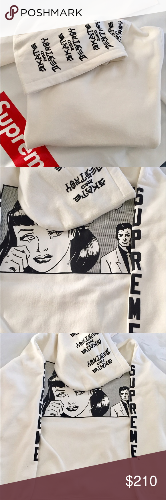 6bdf0f554a08 Supreme X Thrasher Boyfriend Hoodie Beautiful White Hoodie. True to size