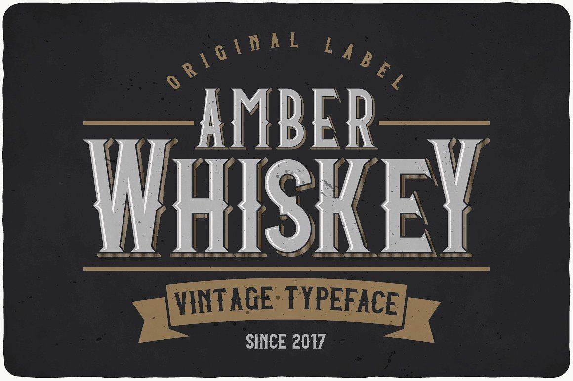 Amber Whiskey Typeface Typeface Vintage Fonts Font Bundles