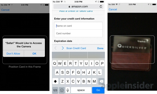 Ios Keyboard Scan Credit Card Google Search Iphone Camera Credit Card Ios 8