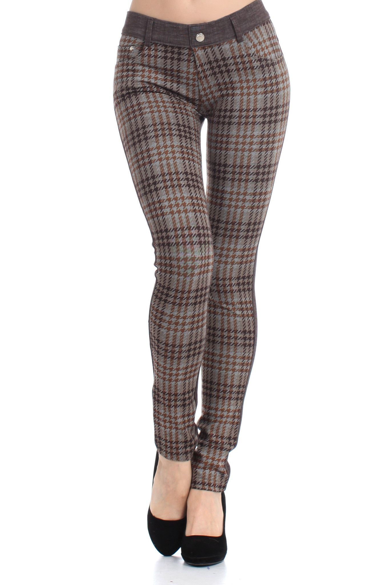 The Sharona Plaid Jegging is the wear-to - Please, Step Into Our Office. The Sharona Plaid Jegging Is The