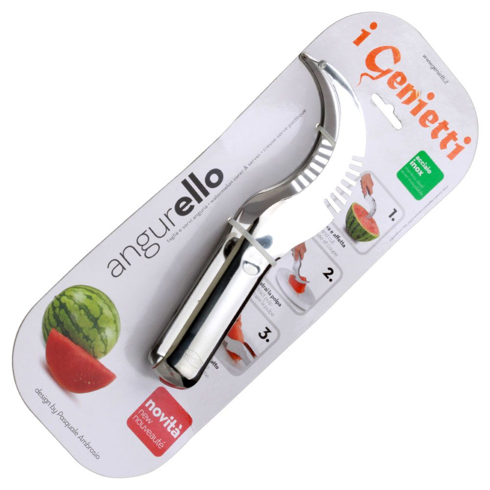 Stainless Steel Watermelon Slicer Server Melon Fruit Cutter Scoop Tool Knife NEW