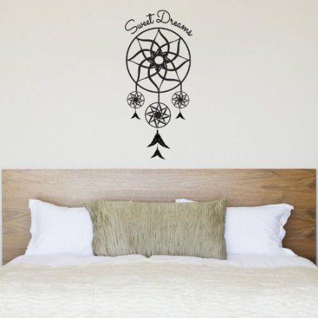 sweet dreams dream catcher wall sticker - dreamcatcher bedroom wall