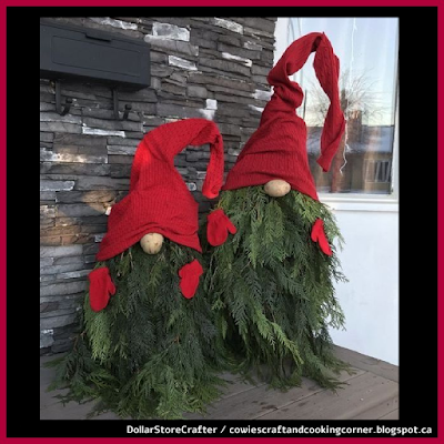 Dollar Store Crafter: Make Your Own Evergreen Christmas Gnomes #christmasgnomes