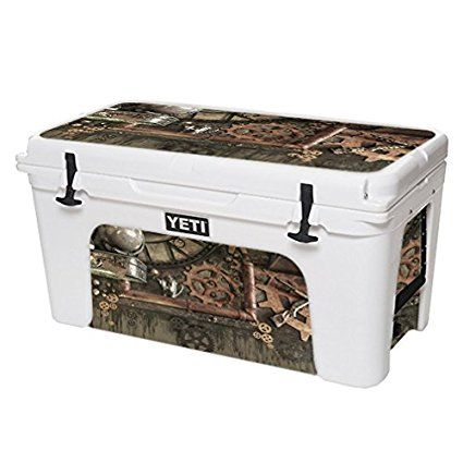 MightySkins Protective Vinyl Skin Decal for YETI Tundra 75 qt Cooler wrap cover sticker skins Steam Punk Room