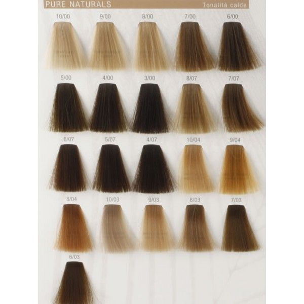 Koleston perfect pure naturals warm colours hair color chartshair also best wella images on pinterest rh