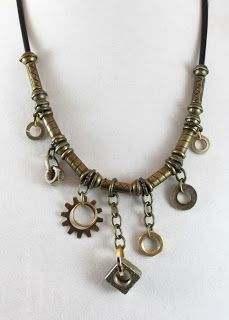 Image result for jewelry out of old keys or nuts and bolts