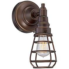 Bendlin Industrial 12 High Oil Rubbed Bronze Wall Sconce Bronze