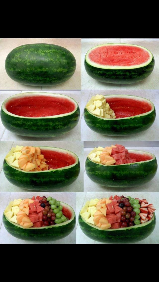 Photo of Watermelon salad bowl- serve watermelon feta salad in this