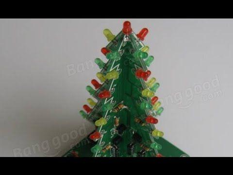 Christmas Tree Led Flash Kit 3d Diy Electronic Learning Kit Diy Electronics Christmas Tree Diy