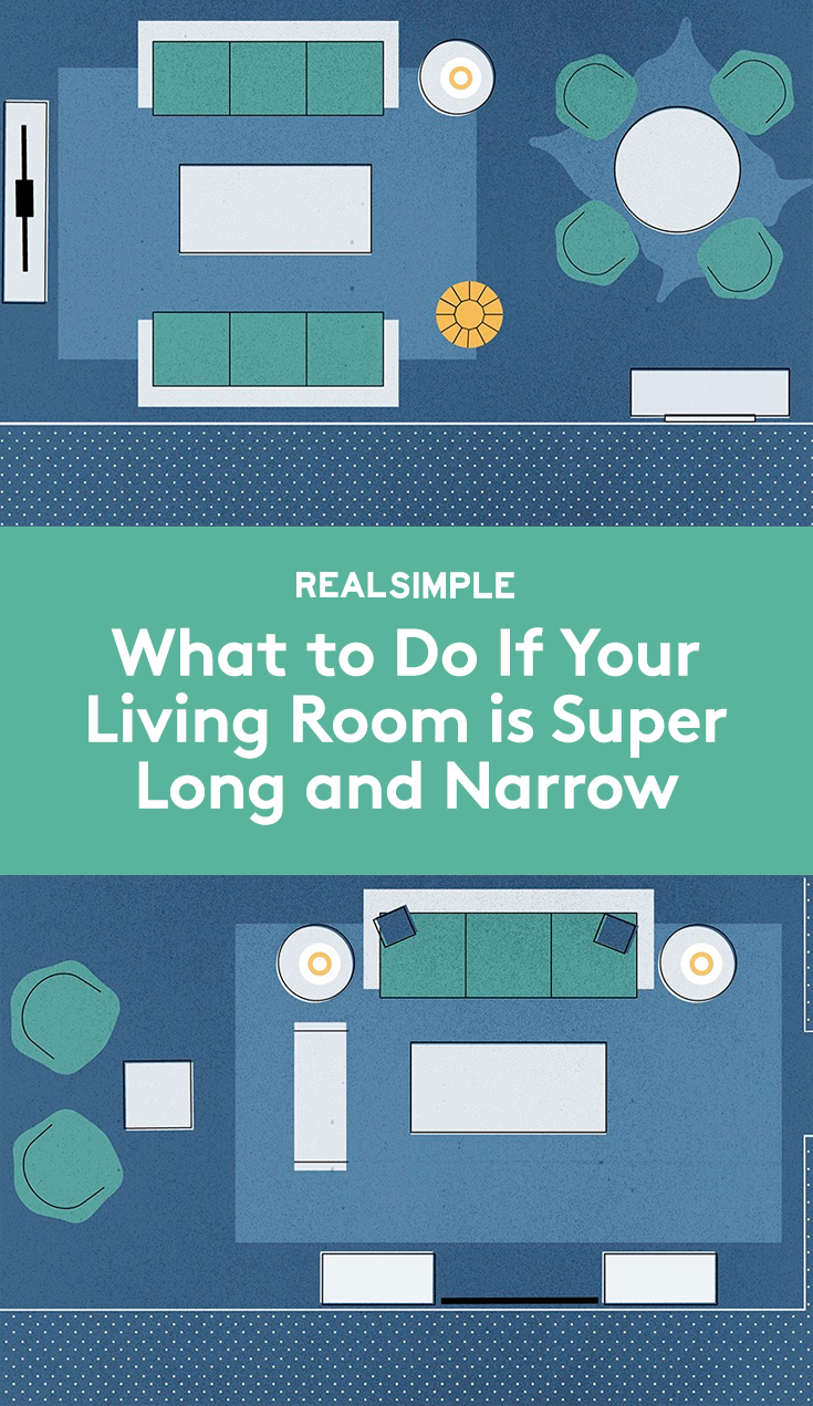 What to do if your living room is super long and narrow divvy up the space get most out of oddly shaped square footage also genius solutions for layout problems decorating rh pinterest