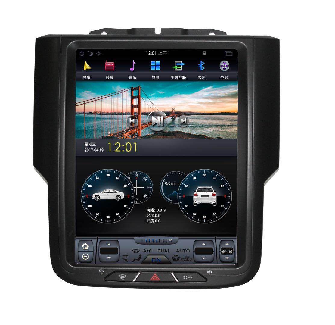 10 4 Tesla Style Vertical Hd Screen Android 7 1 Car Gps Navigation For Dodge Ram Tesla Gps Dodge Ram