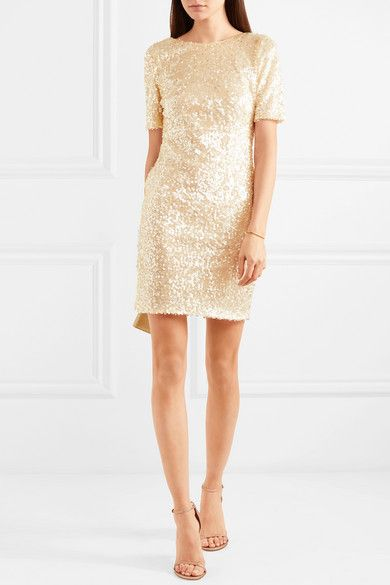 Paillette-embellished Metallic Tulle Mini Dress - White Galvan Um07j