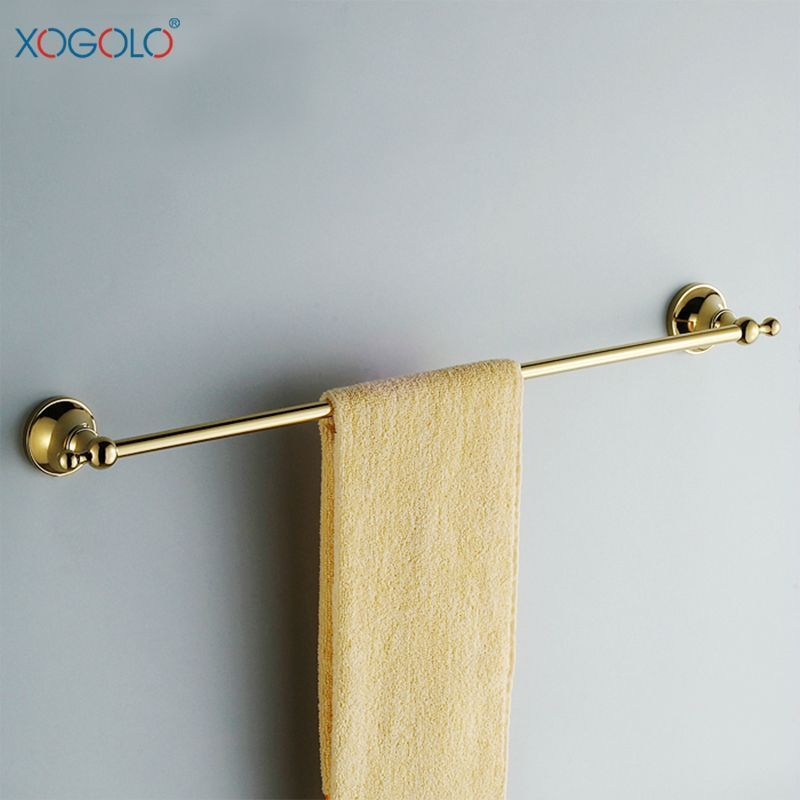 Photo of Xogolo bathroom gold towel bar fashion copper single pole towel rack bathroom ha…
