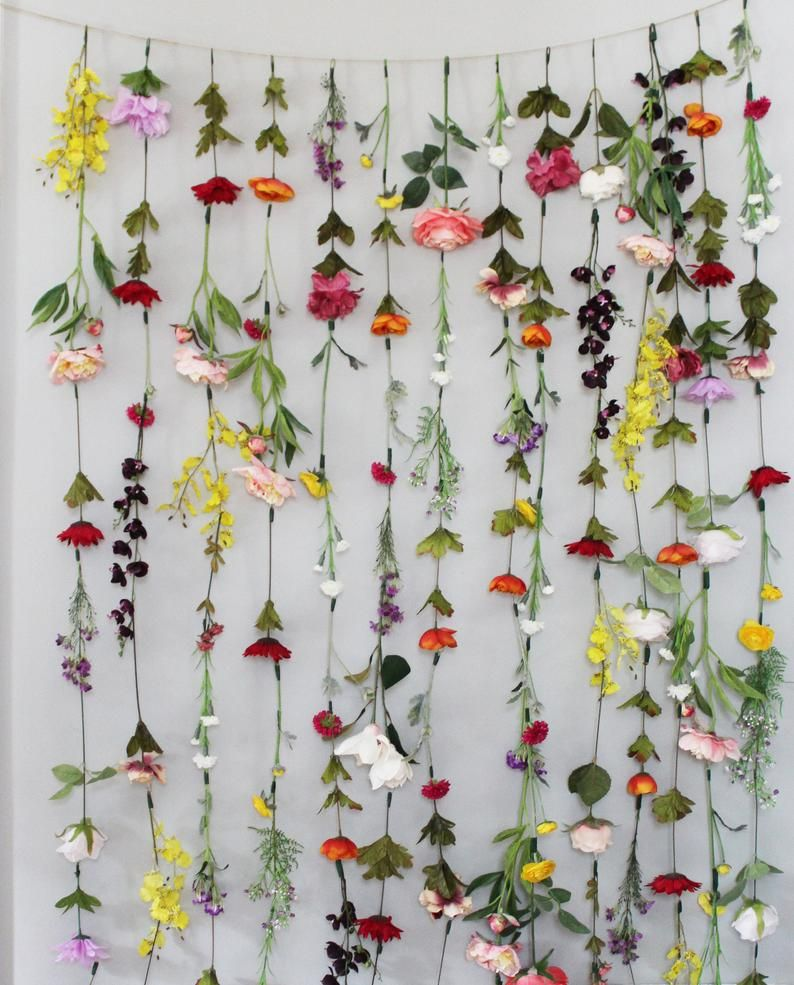Flower Garland Wall Decor Flower Garland Hanging Flower Garland Wedding Flower Garland Flower Garland Nursery Hanging Flower Backdrop Flower Wall Decor Flower Garland Wedding Flower Curtain