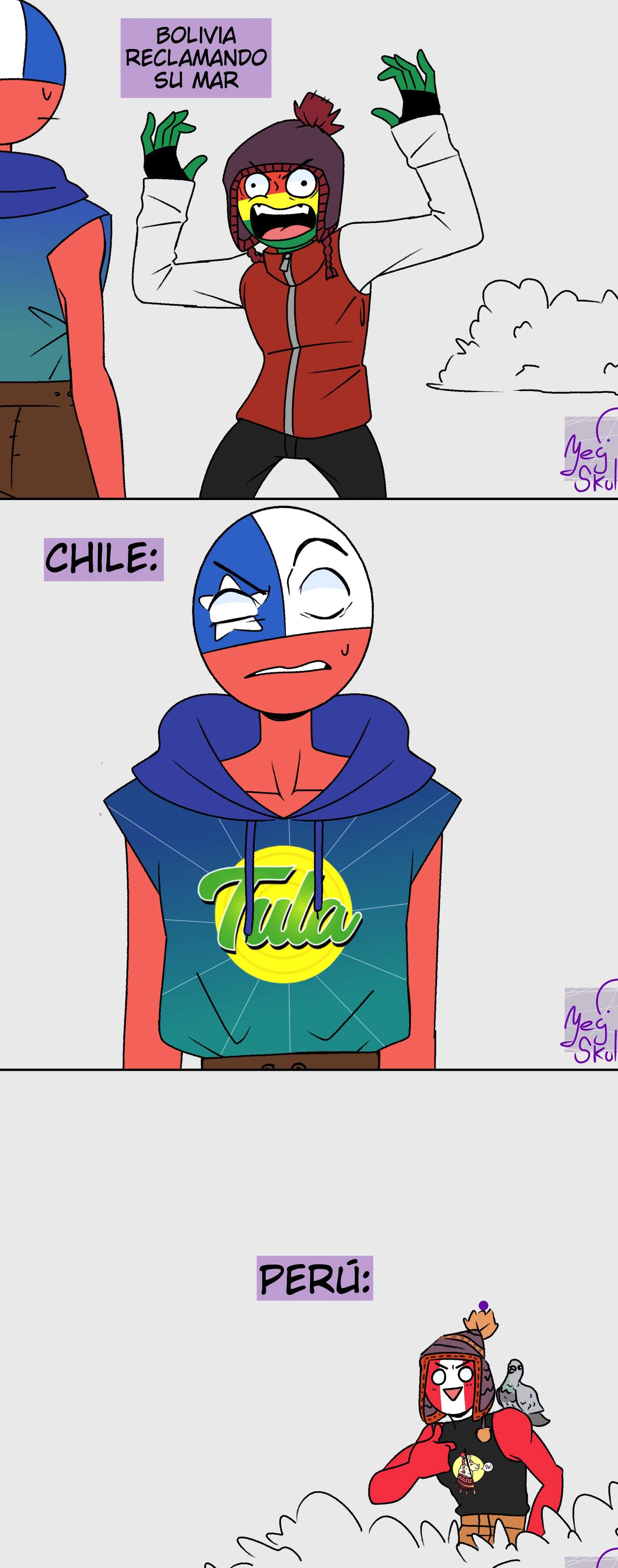 Bolivia Chile Per Peru Countryhumans Toothless Presents Himself Meme By Sabakunoyeg Twitter In 2020 Country Memes Photo Book Memes