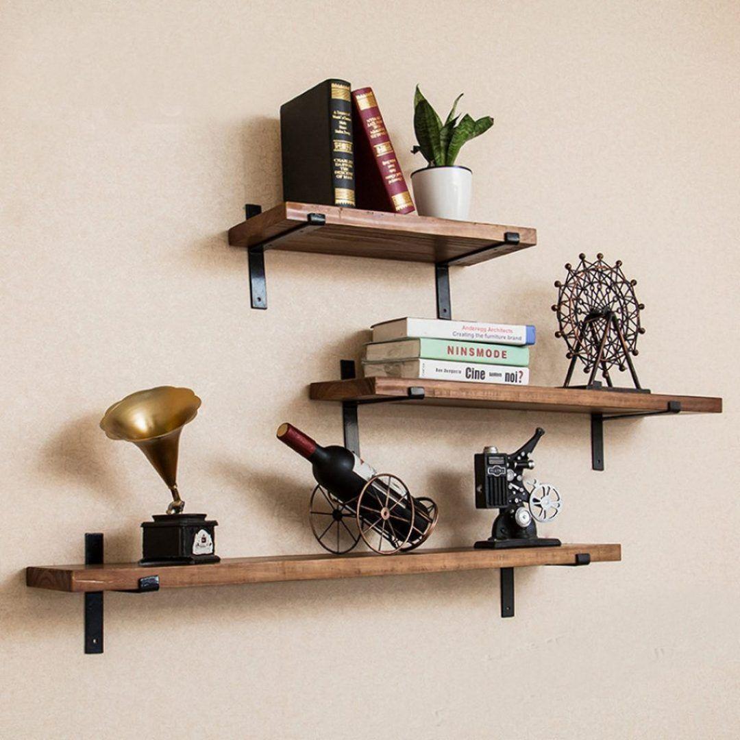 43 The Secret To Industrial Shelf Brackets Freehomeideas Com Wall Shelves Diy Wall Shelves Shelves