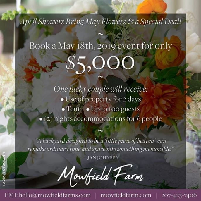 Can't Miss Spring Wedding Special At Mowfield Farm