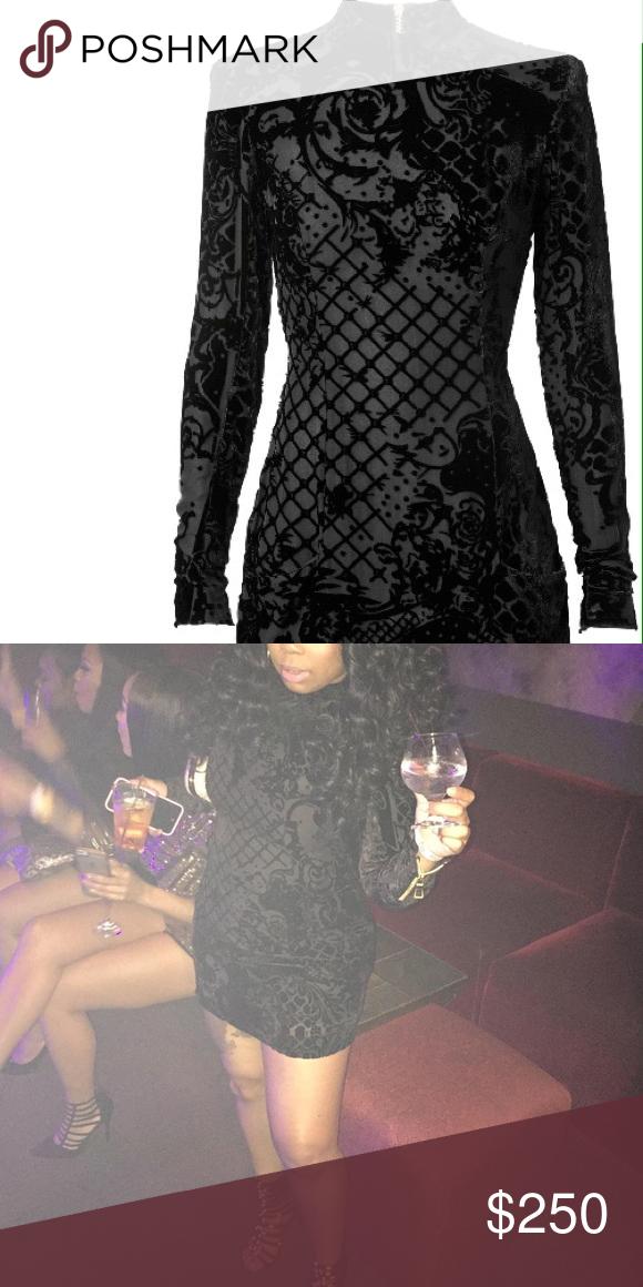 b857f3fd16b Velvet BALMAIN x H M dress Velvet black dress with gold zippers on sleeve.  Worn once Excellent condition Balmain Dresses Long Sleeve