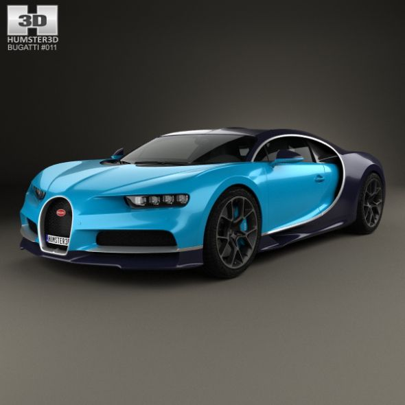 Bugatti Chiron 2017 By Humster3d The 3D Model Was Created