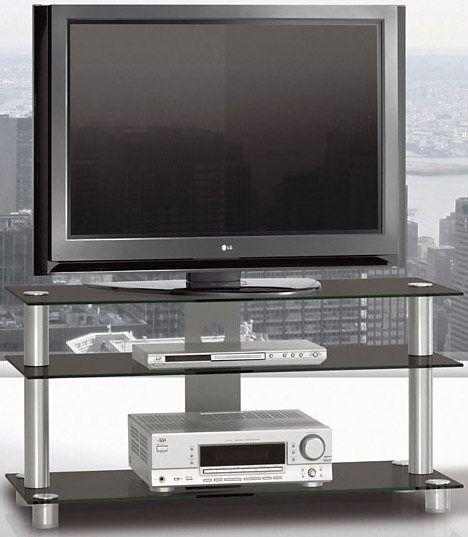 TV-Schrank schwarz, pflegeleichte Oberfläche, JUST-RACKS Jetzt - schrank für wohnzimmer